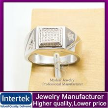 925 sterling silver jewellery ring , zircon men's rings wholesale
