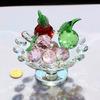 HOT SALE Blue Crystal Fruit Model Crystal Bowl Crystal Glass Gifts
