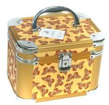 2014 new design pink aluminum beauty case with aluminum train case cosmetic case&make up case &beauty case KL-H330makeup case0