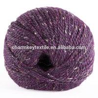 2014 Best selling fancy blended merino alpaca wool yarn with deep violet color