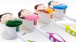 New Design Plastic Suction Family Toothbrush Holder/Head Toothbrush Holder,Family Together Toothbrush Holder