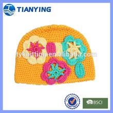 crochet cotton knit newborn baby hats
