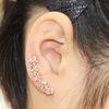 2014 women fashion gold wholesale rhinestone ear cuff earrings