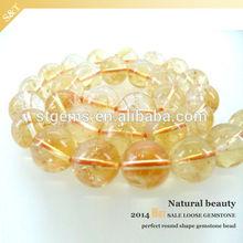 hot sale wholesale semi precious beads gold quartz rutilated