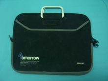 Hot sale black Neoprene laptop sleeve laptop bag for macbook with Handles