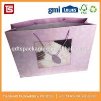 Cheaper Price Pink Garment Shopping Paper Gift Bag