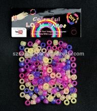 Popular Gift Loom bands braided bracelet beads uv color beads for loom bands bracelet