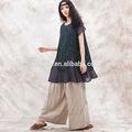 venta al por mayor 2014 boutique de original diseño casual volante dobladillo adornado frontal blusa bordada