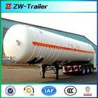 China 2014 good Quality 3 axles lpg gas tanker semi trailer / lpg tank truck trailer with volume optional