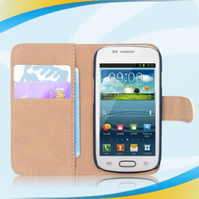 top grade quality new beautiful wallet pu leather girl case for samsung galaxy s3 mini