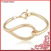 Gold Tone Double Buckle Link Bracelet Jewelry 2014