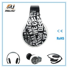 hot new product 2014 global sourcing headphones with tf card slot