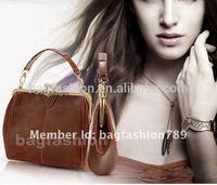 Best selling 2014 Retro Vintage Lock ladies shoulder bag