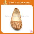 2014 venta al por mayor de moda de la pu de color naranja de las señoras zapatos de vestir