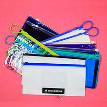 Give away dental accessories transparent Zipper lock PVC pouch