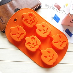 Hot!!!Halloween pumpkin shape silicone molds for microwave cake