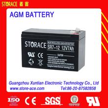 agm battery 12v 7ah sealed lead acid battery 6-dzm-7