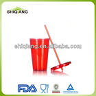 450ml 16oz double wall acrylic plastic thermal tumbler with straw used for ice drinking