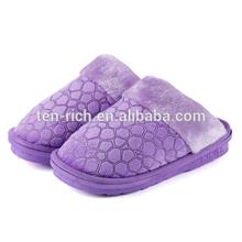 the latest style sheepskin moccasin purple slipper in 2014