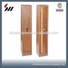 wooden color Key lock gun safe with L handle