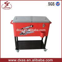 73L good printing metal outdoor travelling box cooler cooler cart (C-006)