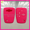 2014 Hot sales durable top quality factory directly supply new style pink color silicone remote control key cover for Chevrolet