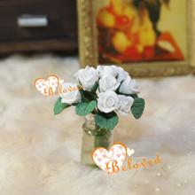 miniature fairy garden 1/12 clay flowers artificial