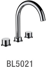 New Goods Chrome plated brass dual handle cold/hot water switch faucet in basin