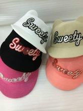 sweety cat ears flat cap outdoor hat