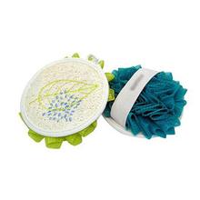 YQF1014 circle Loffah Pad loofah bath sponge loofah mesh sponge