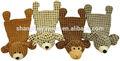 New design unstuffed plush animal toys for pets