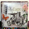 TP-642 Cheap Wholesale Italian Classic Cars Flower Printed Tin Sign Plates