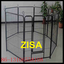 6 to 8 panels black steel dog pens kennels
