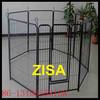 6 to 8 panels black steel dog pens kennels