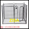 6 to 8 panels black steel dog pens kennels crates
