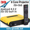 2014 Newest Android 4.2.2 DLP 3D Mini Projector