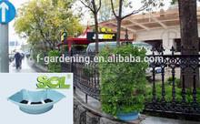 Verticale fioriera muro verde, piantatore paesaggio modulare, quadrante bombato fioriera