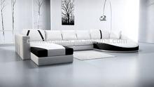 french design functional white italian leather sofa set