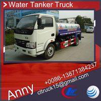 yuejin 4x2 off-road water truck for sale,open top water tank