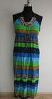 New simple Fashion ladies Stripe long dress