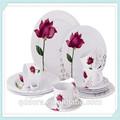 20 / 30 pcs tulip conception porcelaine dîner ensemble, Haute qualité ronde decal vaisselle en céramique