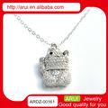 316 açoinoxidável jóias sorte gato pingente e encantos