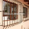 con recubrimiento en polvo de hierro moderna ventana de diseño de la parrilla al aire libre