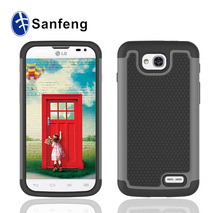 Dual Layer Hybrid Hard Case Cover for LG Optimus L90 Free Sample Available