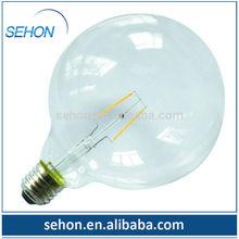 ramadan lantern old fashion classic light 6W G95 G125 led filament lighting bulb/big globe bulbs light