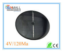 4V 120Ma Round Small Solar Panel with Copper Column for Solar Lights