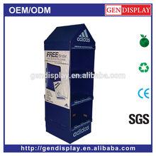 GEN-FD299 Custom Cardboard Advertising Display Stand Shopping Mall Equipments