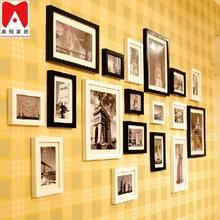 Photo wall 17P Set Photo Frame plexiglass decorative sex nude china girl photo wall art
