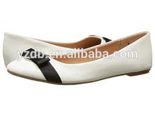 beautiful white PU comfort lady dinner dress shoes 2015