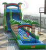 best pvc water slides, big inflatable slide pool, commercial inflatable jungle slide